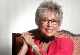 """Actress Rita Moreno poses for a portrait at the Waldorf Astoria Hotel, Mar. 6, 2012 in New York. Moreno stars as Fran Drescher's mother in TV Land's """"Happily Divorced,"""" returning for its second season on March 7. (AP Photo/Carlo Allegri)"""